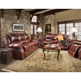 Additri 3 Piece Leather Living Room Set by Darby Home Co