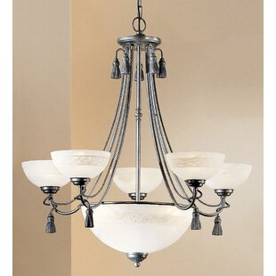 Classic Lighting Rope and Tassel 6-Light Shaded Chandelier