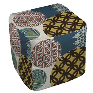 Paper Lanterns 1 Ottoman by Manual Woodworkers & Weavers