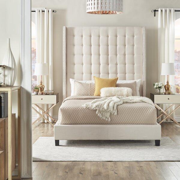 Rosdorf Park Luxullian Button Tufted Panel Bed & Reviews by Rosdorf Park