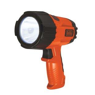 Black & Decker Flashlight Led 3 Watt 375 Lumen Black/Orange By Freeport Park