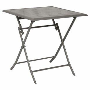 Telemanus Folding Aluminium Bistro Table By Sol 72 Outdoor