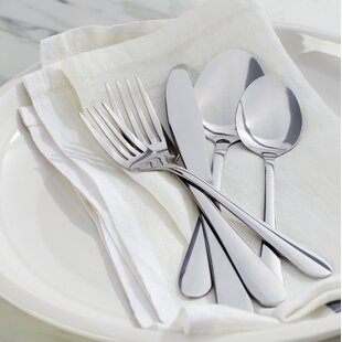 Wayfair Basics 40 Piece Stainless Steel Flatware Set, Service for 8