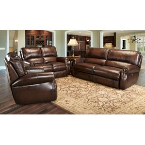 Hardcastle Leather Configurable Living Room Set by Darby Home Co