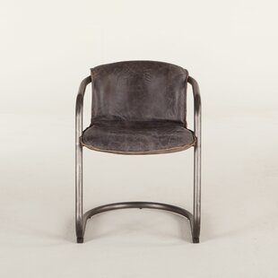 Clearance Guzman Genuine Leather Upholstered Dining Chair (Set of 2) by Williston Forge Reviews (2019) & Buyer's Guide