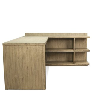 Gracie Oaks Wootton Return Desk with Bookcase