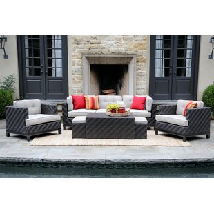 Yara 8 Piece Rattan Sunbrella Sofa Seating Group with Cushions