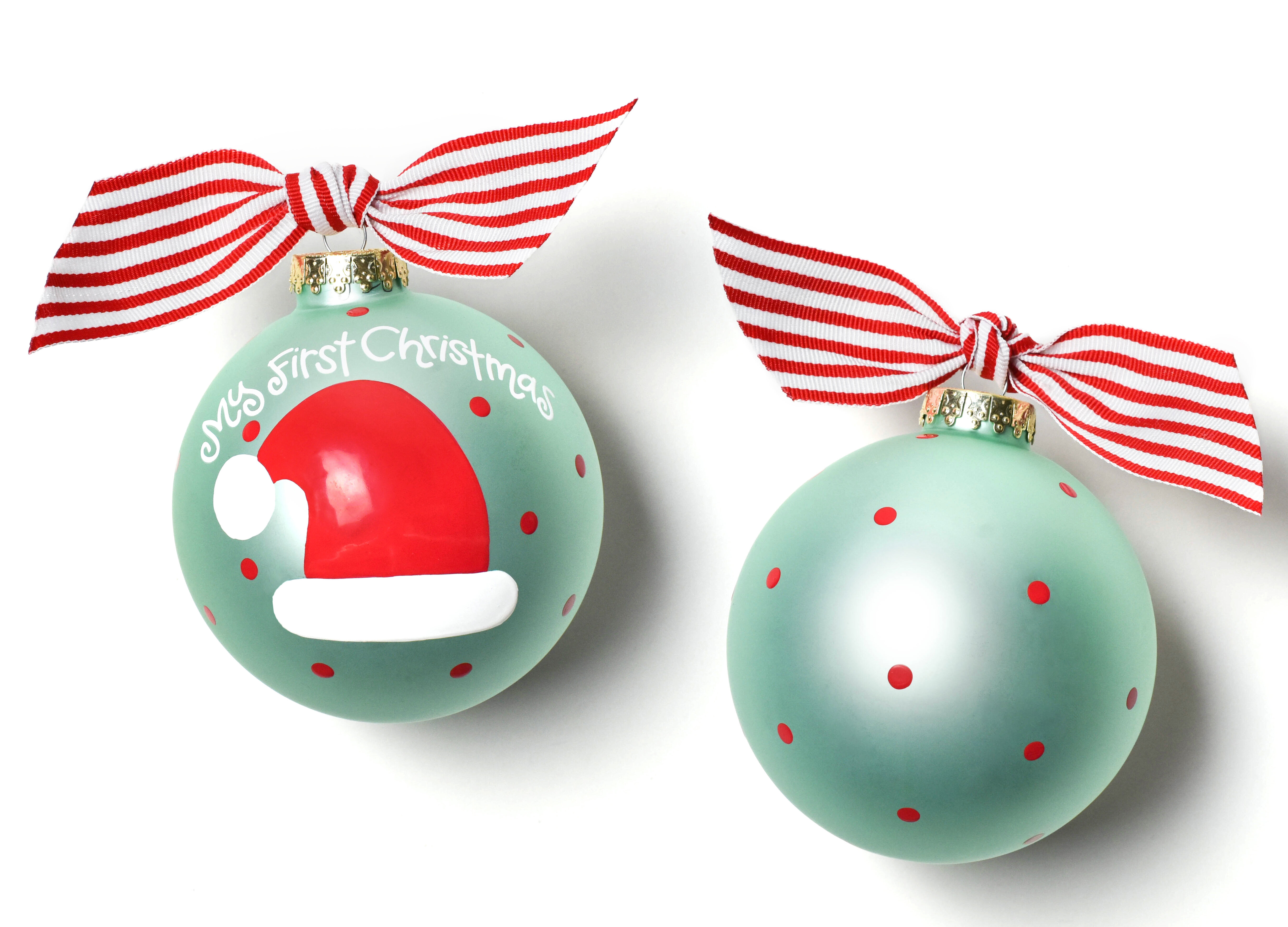 Coton Colors My First Christmas Hat Glass Ball Ornament &