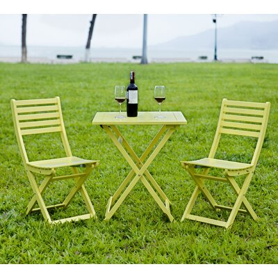 3 Piece Bistro Set Finish: Yellow by HRH Designs