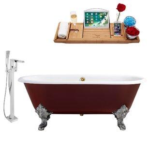 Cast Iron 69 x 31 Clawfoot Soaking Bathtub by Streamline Bath