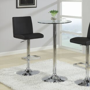 Mukesh Adjustable Height Swivel Bar Stool Orren Ellis