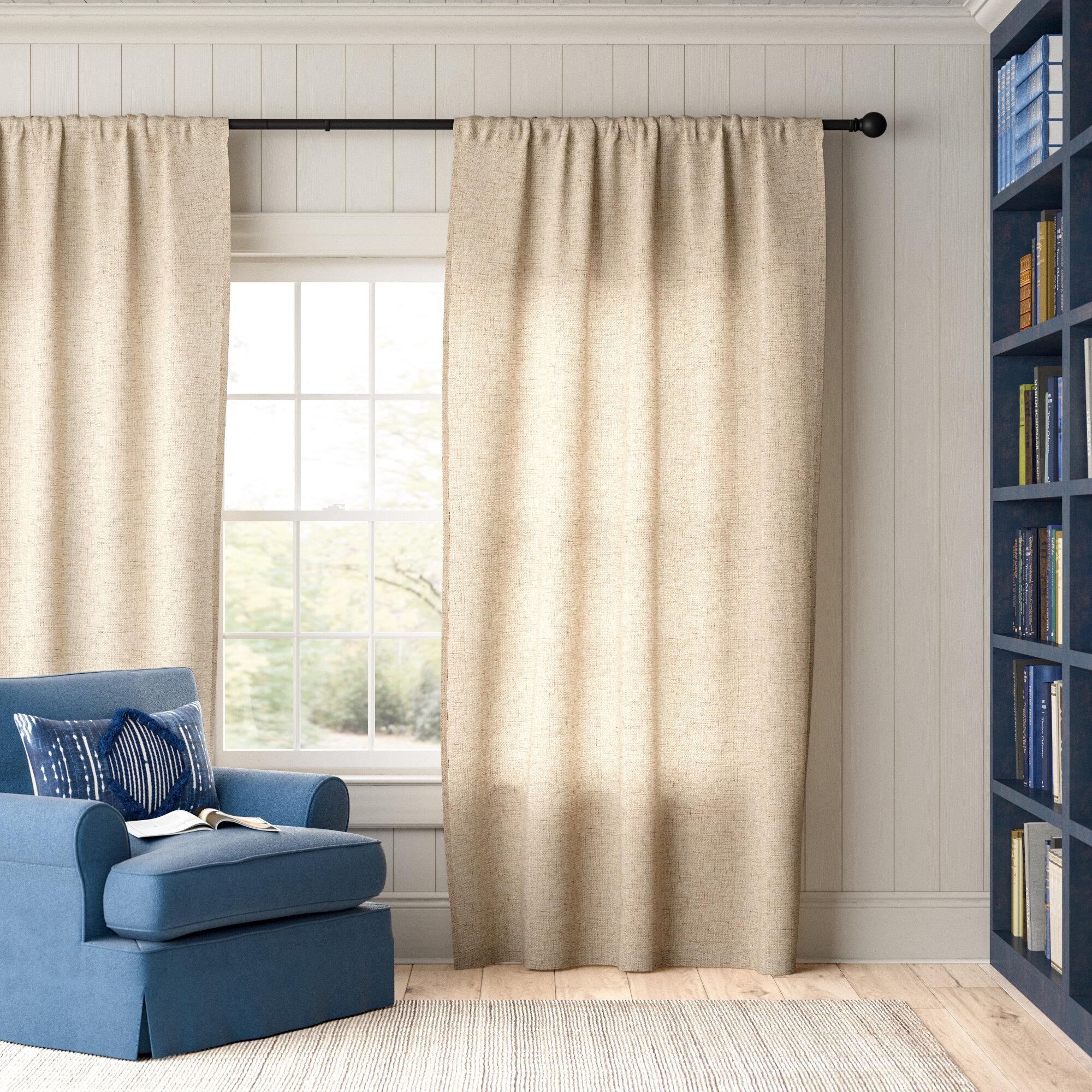 Parthenia Solid Semi Sheer Rod Pocket Single Curtain Panel Reviews Birch Lane