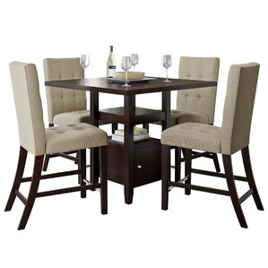 Leiters 5 Piece Counter Height Dining Set by Thr..