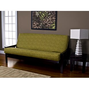 Lush Leaves Zipper Box Cushion Futon Slipcover by Bayou Breeze