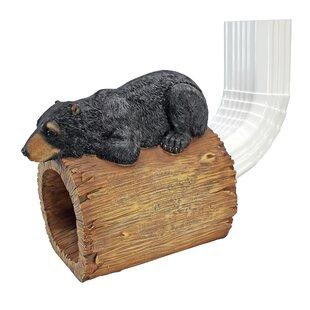 Black Bear Gutter Guardian Downspout Statue Image