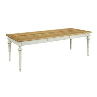 Pilou Large Solid Wood Dining Table by Highland Dunes
