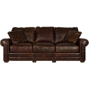 Belfield Leather Sofa by Astoria Grand
