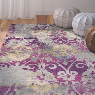 Purchase Curtice Fuchsia Grace Area Rug By Bungalow Rose