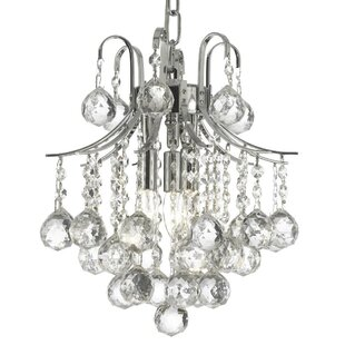 Holte 3-Light Crystal Pendant by Orren Ellis