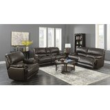 Alaana 3 Piece Leather Reclining Living Room Set by Ebern Designs
