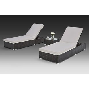 Brayden Studio Putney 3 Piece Chaise Lounge Set