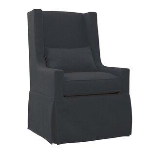 Gracie Oaks Hoang Swivel Lounge Charcoal Gray Armchair
