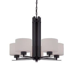 Orren Ellis Rickmansworth 5-Light Shaded Chandelier