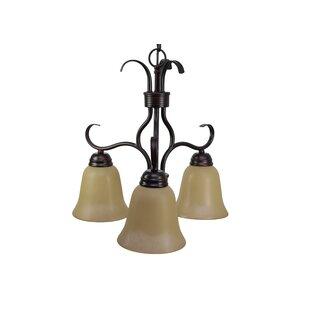 Three Posts Birdsall 3-Light Shaded Chandelier