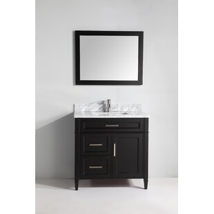Lachine Marble 36 Single Bathroom Vanity with Mirror ByGracie Oaks
