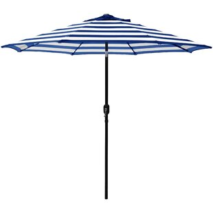Breakwater Bay Jaida Stripe Crank and Tilt 9' Market Umbrella