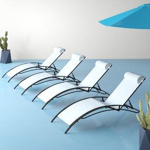 Sebastien Reclining Sun Lounger Set With Cushion (Set Of 2) Image