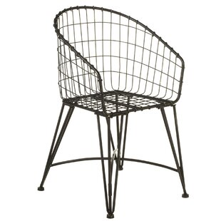Aquinas Grid Wrap Around Bistro Patio Dining Chair by Gracie Oaks