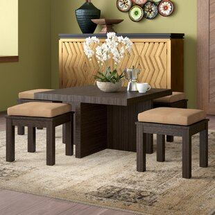 Mercedes 5 Piece Dining Set by World Menagerie