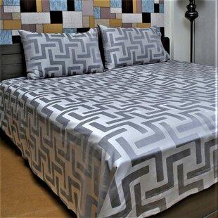 Taylah Genuine Jacquard 350 Thread Count Geometric 100% Cotton Sheet Set ByOrren Ellis