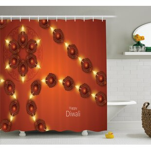 Find Harderwijk Diwali Paisley Decor Indian Festive Celebration Image With Candle and Light Print Shower Curtain By World Menagerie