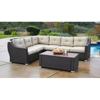 Lanclos 5 Piece Sectional Seating Group With Cushions Alcott Hill