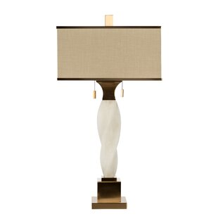 Alabaster Twist 35 Table Lamp
