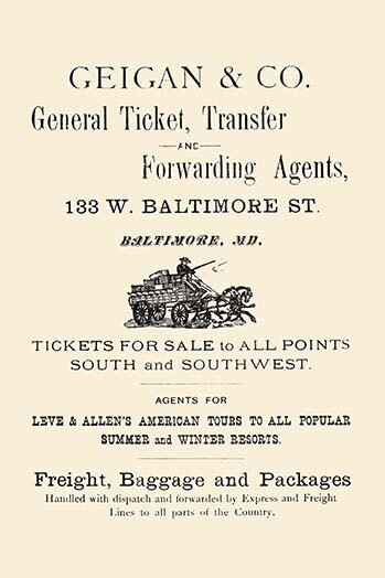 'Geigan & Co. General Ticket Transfer & Forwarding Agents' Textual Art