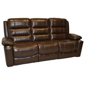 Trenton Leather Reclining Sofa by Wildon Hom..