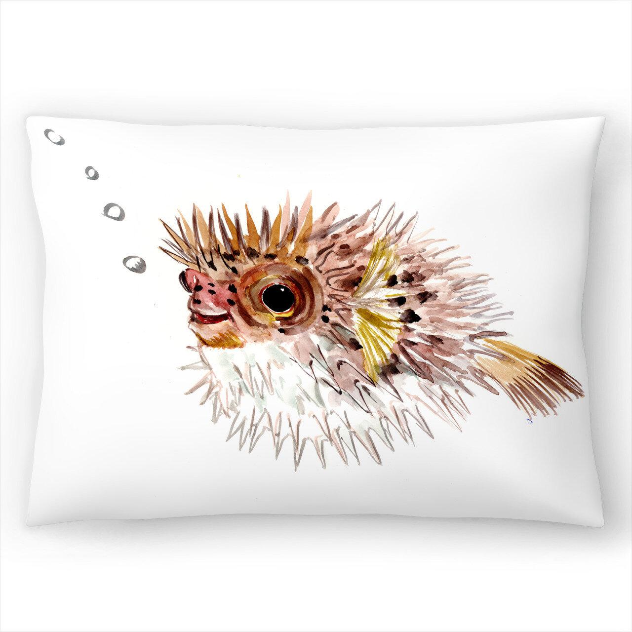 East Urban Home Suren Nersisyan Puffer Fish Lumbar Pillow Wayfair