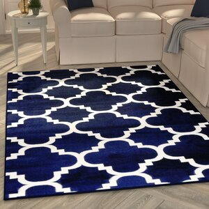 Blocher Navy Indoor/Outdoor Area Rug