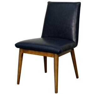 Pietra Genuine Leather Upholstered Dining Chair (Set of 2) by New Pacific Direct