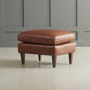 DwellStudio Florence Leather Ottoman