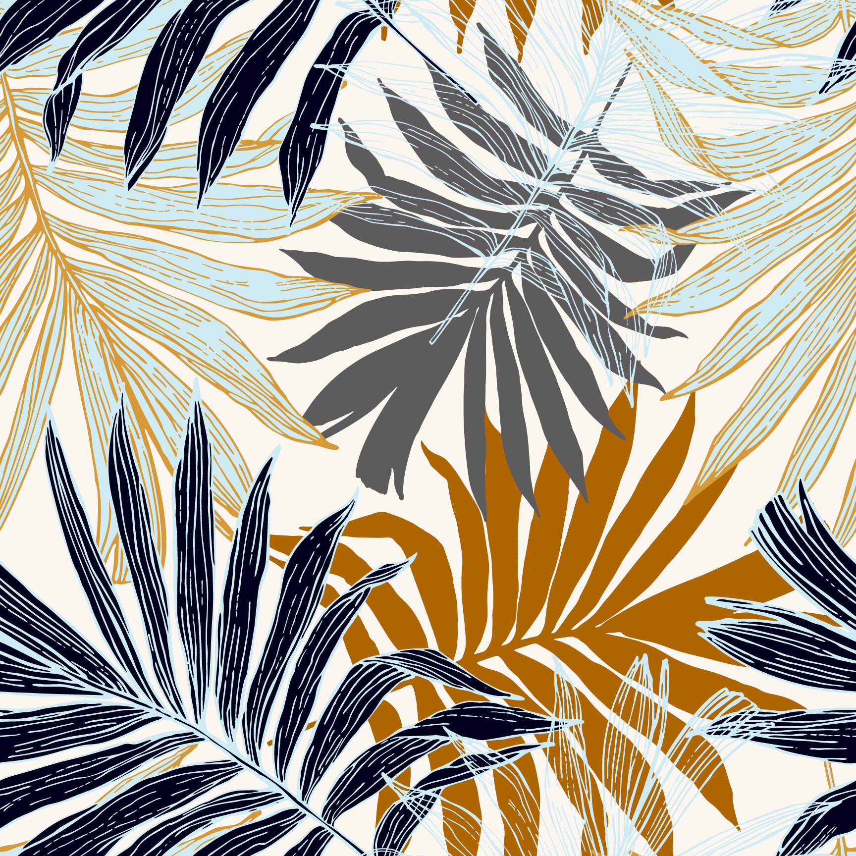 Bay Isle Home Palm Tree Leaves In Silhouette 10 L X 24 W Peel And Stick Wallpaper Roll Wayfair