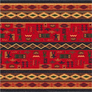 Pastiche Wide Ruins Red Area Rug