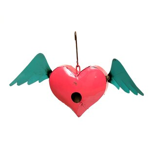 Rustic Arrow Hanging Heart 11 in x 18 in x 5 in Birdhouse