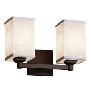 Ebern Designs Favela Regency 2 Light LED Square w/ Flat Rim Vanity Light