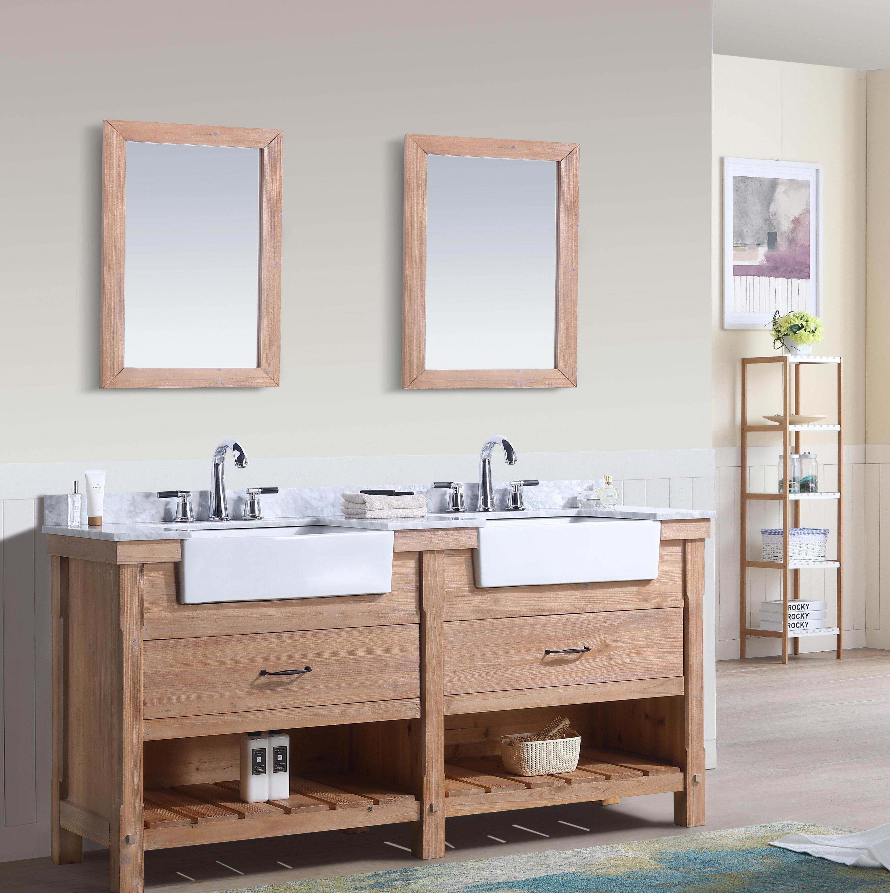 Three Posts Kordell 72 Double Bathroom Vanity Set Reviews Wayfair