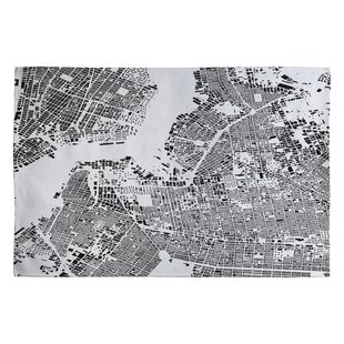 Great Price Cityfabric Inc Brooklyn Handwoven Flatweave Black/White Area Rug By Deny Designs