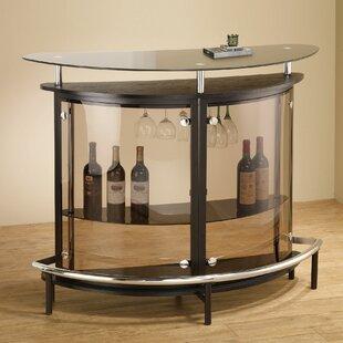 Ebern Designs Amina Bar with Wine Storage